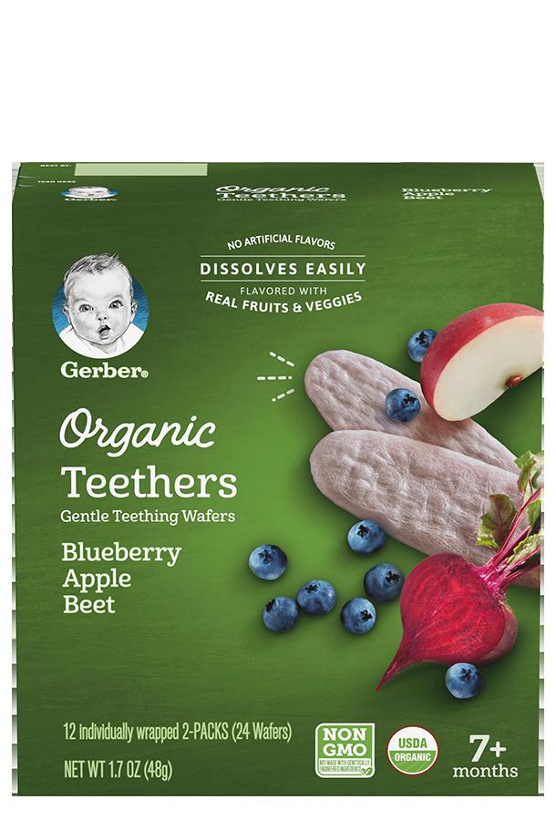 Organic Teethers Blueberry Apple Beet