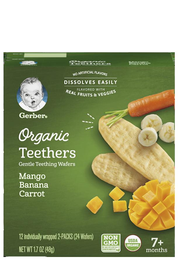 Organic Teethers Mango Banana Carrot