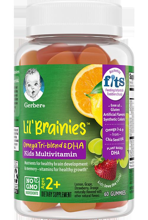 Lil' Brainies™  Tri-Blend & DHA Kids Multivitamins